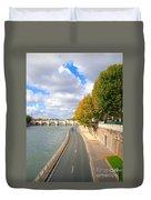 Sunny Day In Paris Duvet Cover