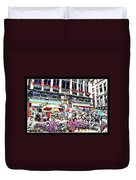 Sunny Day On The Grand Place Duvet Cover
