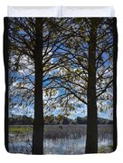 Sunny Day On The Pond Duvet Cover