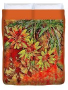 Sunny Day Yellow Daisies  Duvet Cover
