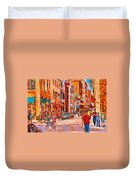 Sunny Downtown  Duvet Cover