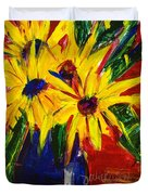 Sunny Flowers Duvet Cover
