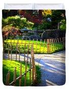 Sunny Garden Path Duvet Cover