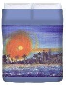 Sunny  Palms Duvet Cover