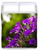 Sunny Petunias 1 Duvet Cover