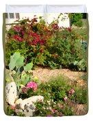 Sunny Rock Garden Duvet Cover
