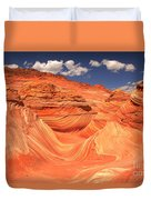 Sunny Skies At The Wave Duvet Cover