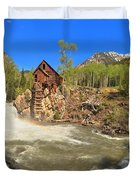 Sunny Skies Over The Crystal Mill Duvet Cover