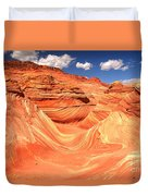 Sunny Skies Over The Wave Duvet Cover