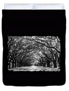 Sunny Southern Day - Black And White With Black Border Duvet Cover