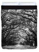 Sunny Southern Day - Black And White Duvet Cover