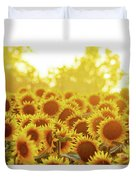 Sunny Sunflower Sunset Duvet Cover