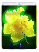 Sunny Tulip In Vase. Duvet Cover