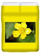 Sunny Yellow Cinquefoil Duvet Cover