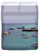 Sunray Harbor Duvet Cover