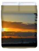 Sunrays And Clouds Duvet Cover