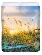 Sunrays On The Beach Duvet Cover