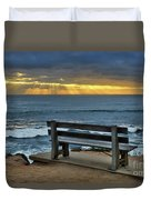 Sunrays On The Horizon Duvet Cover