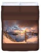Sunrise After Summer Snowfall Duvet Cover