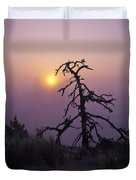 Sunrise And Fog Duvet Cover