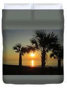 Sunrise And Palms Duvet Cover