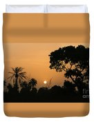 Sunrise And Silhouettes Duvet Cover