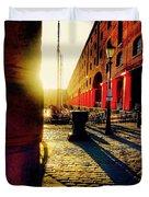 Sunrise At Albert Dock Duvet Cover