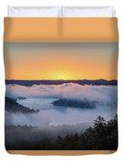 Sunrise At Broken Bow Lake Duvet Cover