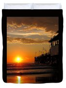 Sunrise At Daytona Beach Pier  004 Duvet Cover