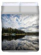 Sunrise At Fish Lake Duvet Cover