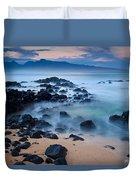 Sunrise At Ho'okipa - Sunrise At Hookipa Beach In Maui Duvet Cover