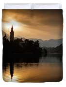 Sunrise At Lake Bled Duvet Cover