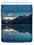 Sunrise At Lake Louise, Banff National Park, Alberta, Canada Duvet Cover