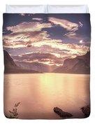 Sunrise At Lake Minnewanka Duvet Cover