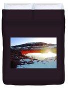 Sunrise At Mesa Arch Duvet Cover