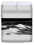 Sunrise At Mesquite Flat Sand Dunes Panorama Duvet Cover