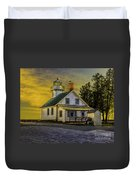 Sunrise At Mission Point Light Duvet Cover