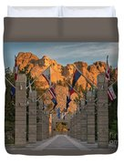 Sunrise At Mount Rushmore Promenade Duvet Cover