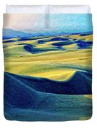 Sunrise At Oceano Sand Dunes  Duvet Cover