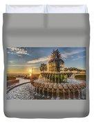 Sunrise At Pineapple Fountain Duvet Cover