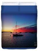 Sunrise At Provincetown Pier 1 Duvet Cover