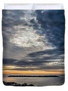 Sunrise At Rudee Inlet Duvet Cover