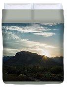 Sunrise At Sabino Canyon Duvet Cover