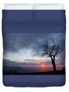 Sunrise At Saddle Overlook Duvet Cover