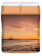 Sunrise At St Mary's Lighthouse Duvet Cover