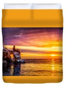Sunrise At The Arch Duvet Cover