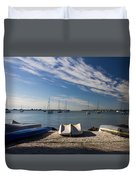 Sunrise At The Bay Duvet Cover