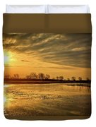 Sunrise At The Big Marsh Duvet Cover
