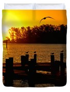 Sunrise At The Boat Launch  Duvet Cover