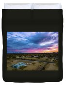 Sunrise At The Horse Barn Duvet Cover